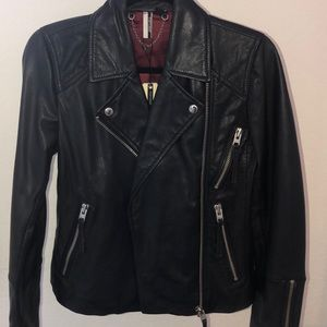 LEATHER JACKET - TOPSHOP